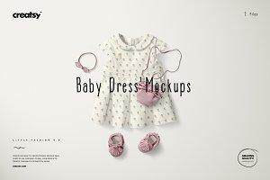 Baby Dress Mockup Set 2