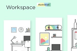 Workspace Illustration Kit