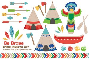 Bright Tribal Clipart & Vectors