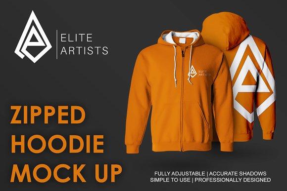 Zipped Hoodie Mock Up