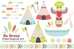 Spring Tribal Vectors & Clipart