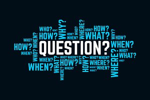 questions typography text word art