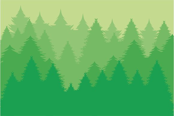 Pine Forest Abstract Wallpaper