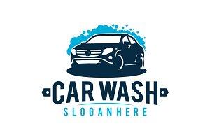 Car Wash logo vintage Vector