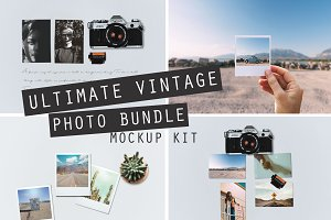 ULTIMATE VINTAGE PHOTO MOCKUP BUNDLE