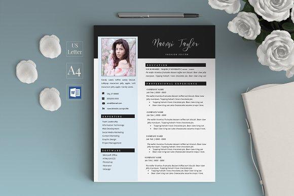 Creative Resume CV Naomi