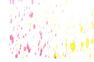 Abstract yellow red ink splash
