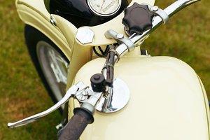 beautiful retro vintage motorbike