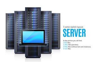 Computer Server Realistic Set