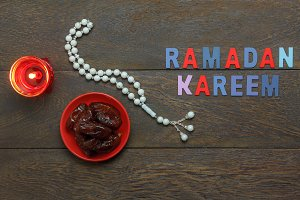 Top view Ramadan Kareem holiday