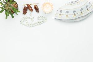 Top view Ramadan Kareem holiday