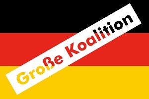 Grosse Koalition over German Flag