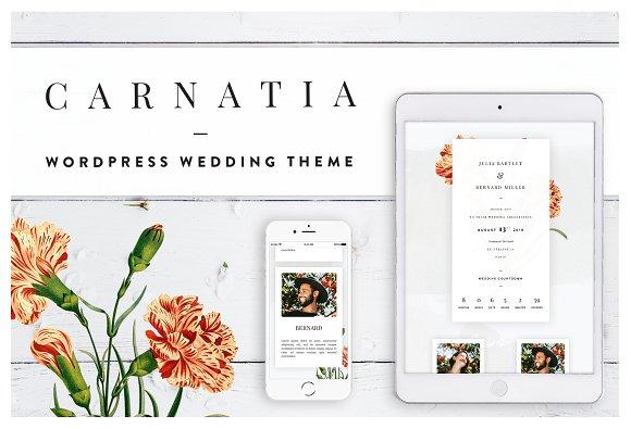 Carnatia WordPress Wedding Theme