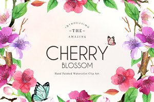 Floral Watercolor Set - CHERRY