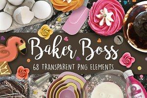Baker Boss PNG Scene Creator