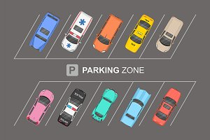 Top view of Parking zone