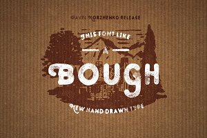 Bough. Vintage hand drawn typeface