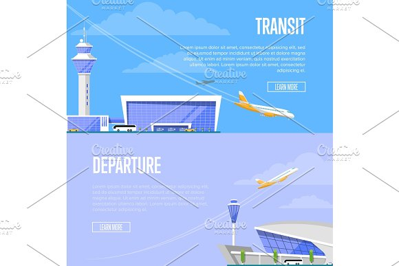 Aircraft Transit And Airport Departure Flyers