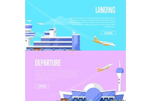 Aircraft landing and airport departure flyers