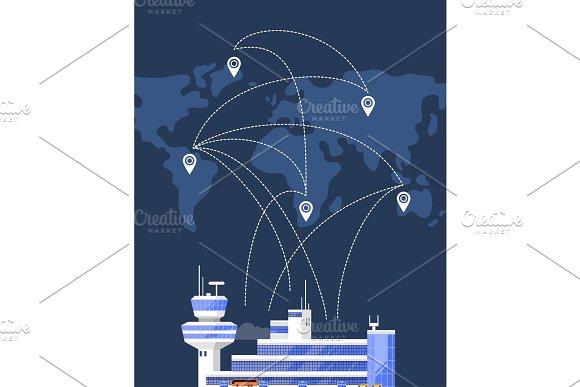 Modern International Passenger Airport Building