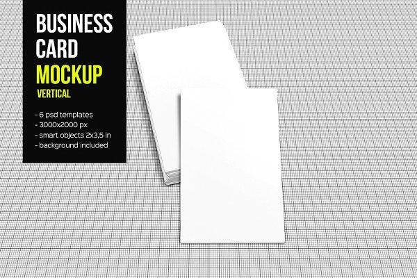 Business Card Mockup-Vertical