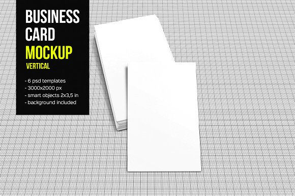 Free Business Card Mockup-Vertical