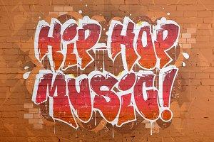 7 HIP-HOP GRAFFITI ILLUSTRATIONS