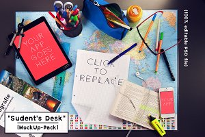 student's desk [MockUp Pack]