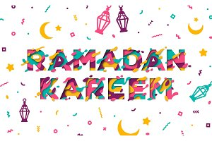 Ramadan Kareem typographic concept
