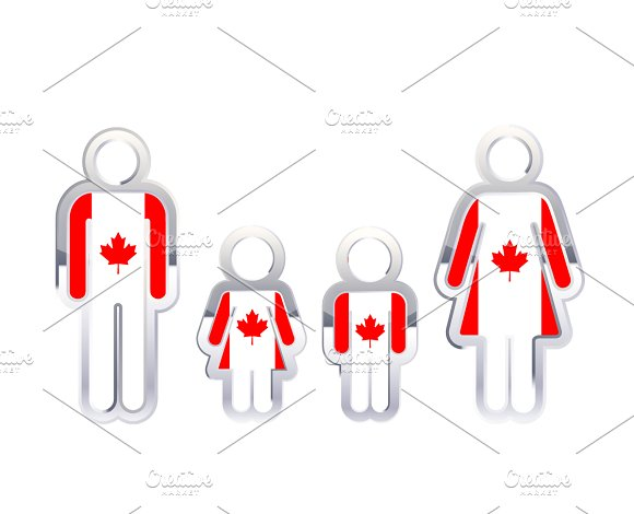 People With Canada Flag
