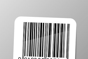 Realistic barcode sticker
