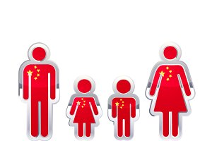 People with China flag