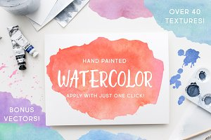 50% off! Watercolor Photoshop Styles