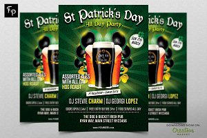 St Patrick's All Day Party Flyer