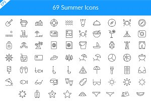69 Summer Icons