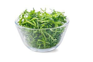 Bowl of fresh arugula
