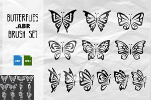 Butterflies Brush Set