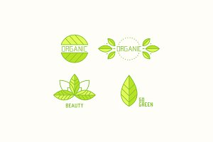 Collection of organic logos