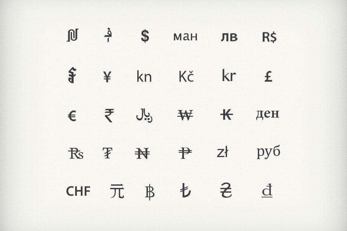 Currency symbols graphics creative market buycottarizona Choice Image
