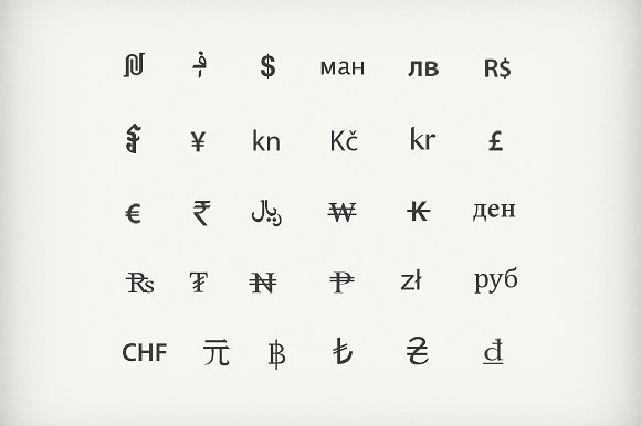 Currency Symbols Graphics Creative Market