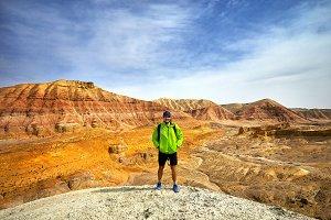Tourist adventure in the desert