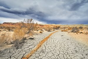 Drought climate in the desert