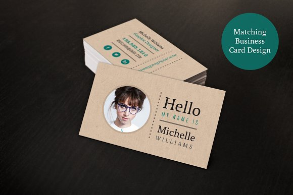 creative resume business card set resume templates creative market