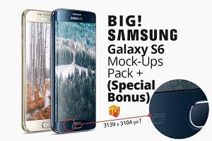 Galaxy s6 mockup pack