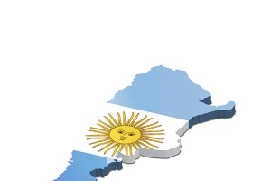Argentina country 3d silhouette