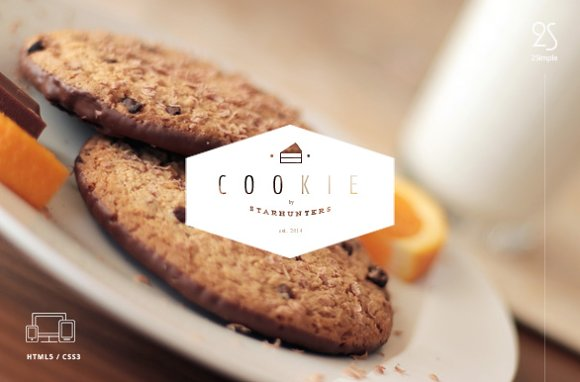 2Simple Cookie Coming Soon Template ~ Website Templates ~ Creative ...