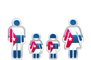 People with Cuba flag