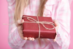 giftbox in female hands