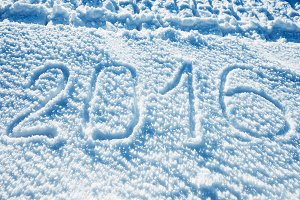 Sign 2016 on the snow