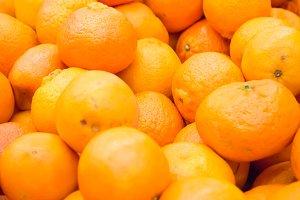 Pile of fresh oranges